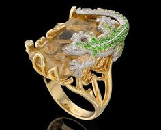 "Animal Ring - Lizard  ""Master Exclusive"" Izhevsk Jewelry House, Russia"