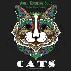 Adult coloring book - this book will give hours of fun and relaxation to all cat lovers.