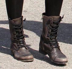 "Check out wanttobe intheuk's ""Dark brown combat boots"" Decalz @Lockerz"