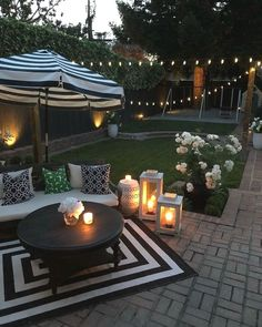 Small Backyard Design, Small Backyard Patio, Backyard Patio Designs, Pergola Patio, Diy Patio, Backyard Landscaping, Landscaping Ideas, Pergola Ideas, Garden Design