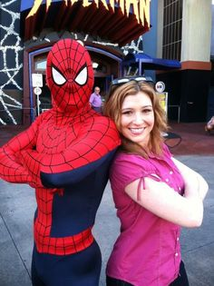 TWC Danielle Banks on a shoot in Orlando earlier in April 2012! Look who showed up....THE Amazing Spiderman!