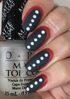 ehmkay nails: Black and White and Red All Over Nail Art