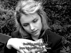 """cassie ainsworth: """"even the worst things have things to love in them"""" Skins UK Cassie Skins, Series Quotes, Film Quotes, Skins Uk Quotes, Gossip Girl, Skin Aesthetics, Hannah Murray, Movie Lines, Drama"""