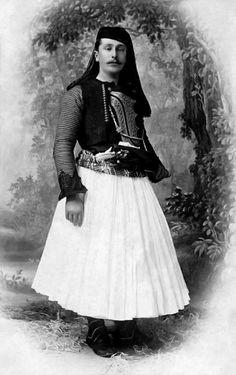 Murat Toptani in traditional costume of Scutari