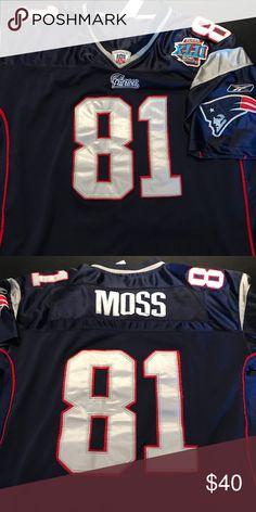 35836a4d1 New England Patriots Randy moss jersey Wore a couple of times