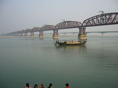 Hardinge Bridge, Bangladesh, crosses the Ganges-Padma River.