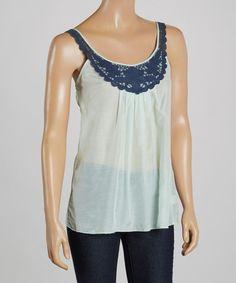 Another great find on #zulily! Dew & Navy Embroidered Silk-Blend Tank #zulilyfinds