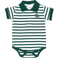 Baylor University Infant Bodysuit Striped Polo
