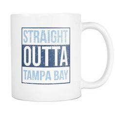 Straight Outta Tampa Bay Baseball Coffee Mug, 11 Ounce