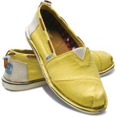 TOMS Bimini Stitchouts Slip-On Yellow Classic Women