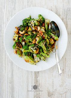 Sweet & Sour Broccoli Salad — 1-2 Simple Cooking