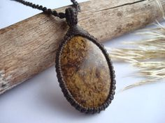 Bronzite Necklace/Golden by GaiasGiftsToUs on Etsy