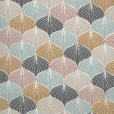 Tissu enduit coton Alli charcoal/mustard x 10cm