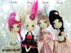 Urchin Art Dolls by Vicki at Lilliput Loft ~Masquerade Collection