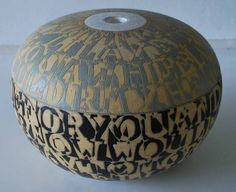 Bo Kristiansen, lidded jar in stoneware. Bornholm, Denmark