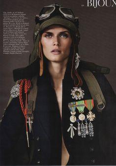 #fashion #editorial Malgosia Bela by Josh Olins for Vogue Paris August 2010