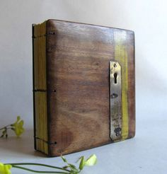 Wood Journal Blank  Diary Sketch book Reclaimed wood by lacunawork, €35.00