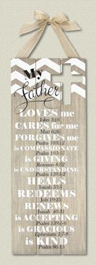 Wood My Father Wall Plaque