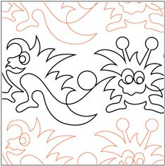 """Monster Mash© 2015 Melonie J. CaldwellA single row is 10"""" wide– printed with one row – 144"""" long* This design is available in both paper and digital. Please select your preference below. NOTE:   All digital designs include the following conversions:  CQP, DXF, HQF, IQP, MQR, PAT, QLI, SSD, TXT, WMF and 4QB or PLT. Most designs also include a DWF, GIF and PDF. This pattern was converted by Digitech."""