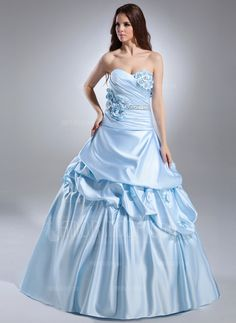 Quinceanera Dresses - $213.99 - Ball-Gown Sweetheart Court Train Satin Quinceanera Dress With Ruffle Beading Flower(s) (021015628) http://hochzeitstore.com/Ball-gown-Sweetheart-Court-Train-Satin-Quinceanera-Dress-With-Ruffle-Beading-Flower-S-021015628-g15628