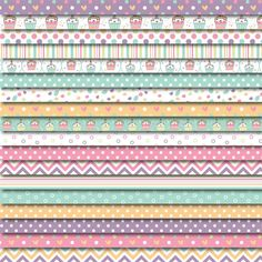 Digital Washi Tape FREE with Scrapbooking Paper Pack Kawaii Cupcakes by DreamingOnAStar