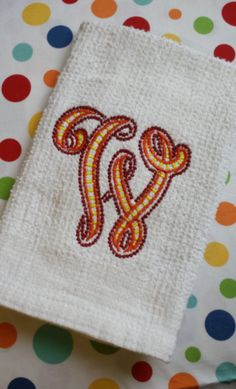 Check out this item in my Etsy shop https://www.etsy.com/listing/227673054/cutwork-monogrammed-kitchen-dish-towel