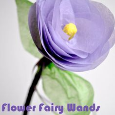 Crafts for Kids - Flower Fairy Wand - Spoonful