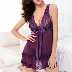 6d256ab51 Fashion Sexy Women Girl Sleep Wears Lace Sleeveless Nightgown Slim Casual  Nightgowns Spring Summer