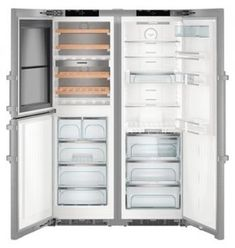 Liebherr SBSes 8496 Side-By-Side Kühl-Gefrierkombination Best Appliances, Stainless Steel Appliances, Kitchen Appliances, Wine Storage, Storage Shelves, Door Shelves, Bottle Rack, Wine Cabinets, Side