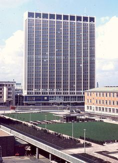St George's House, the Nestle building, and College Green, Croydon, 1965.