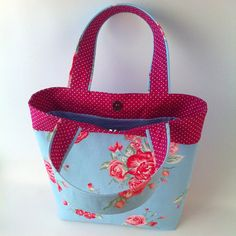 Elegant Tote bag Cotton Fabric Purse Cute Carryall by HolaLotta