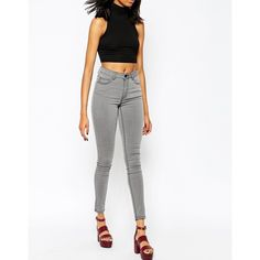 b74060fc1641a Jeans by Just Female Stretch cotton-rich denim Flattering high rise  Concealed zip fly Classic five pocket styling Skinny fit - cut closely to  the body ...