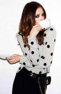 Sass and Bide flock spot print jumper #spots #polkadots #fashion