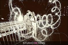 Wedding sparklers creative photography