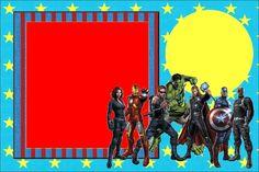 hacer invitaciones gratis de super heroes | Imprimibles de los Vengadores.