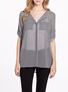 3/4 Sleeve Printed Blouse   Women   Shop Online at Reitmans Online Shopping For Women, Printed Blouse, Blouses For Women, Personal Style, Ready To Wear, Tunic Tops, Sleeves, Prints, How To Wear