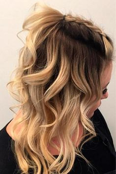 Ideas Hairstyles For Medium Length Hair Homecoming Hairdos - Hair Styles 2019 Cute Fall Hairstyles, Cute Hairstyles For Medium Hair, Braided Hairstyles, 1930s Hairstyles, Hairstyle Ideas, Latest Hairstyles, Hairstyles 2018, Hairstyles For Pictures, School Picture Hairstyles