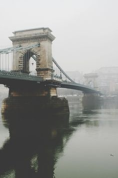 Széchenyi Chain Bridge spanning the Danube River in Budapest Oh The Places You'll Go, Places To Travel, Places To Visit, Pale Tumblr, Adventure Is Out There, Belle Photo, Wonders Of The World, Adventure Travel, Travel Inspiration