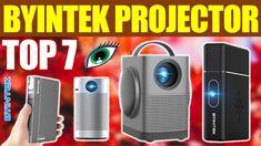 Top 7: Best Byintek Projector Review in 2021 Portable Projector, Led Projector, Projector Reviews, Gadget, Bathroom Ideas, Top, Electronics, Gadgets, Crop Shirt