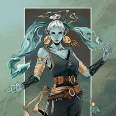 Esca Water Genasi Four Elements Monk Helpful, 32 yo Dungeons And Dragons Art, Dungeons And Dragons Characters, Dnd Characters, Fantasy Characters, Female Characters, Character Concept, Character Art, Concept Art, Fantasy Rpg