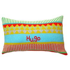 Personalised Knitted Child's 'Circus' Cushion by Gabrielle Vary