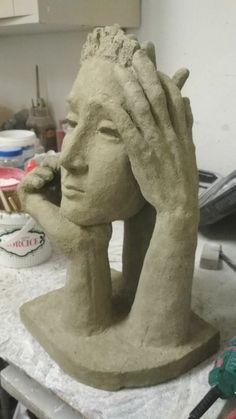 Poetess, artifical stone, 2018, Vladana Fuchs