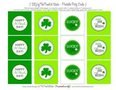 The TomKat Studio: {Free Printables} It's Your LUCKY Day ~ Cute Printable St. Patrick's Day Party Circles!