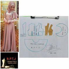 Long Dress Patterns, Dress Sewing Patterns, Clothing Patterns, Kebaya Brokat, Dress Brokat, Fashion Sewing, Diy Fashion, Pola Rok, Make Your Own Clothes