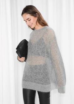 & Other Stories | Fuzzy Mohair Blend Knit