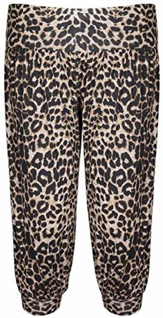 d967a0da1994f British Plus Size Shorts · British Womens New Animal Aztec Leopard Skull Printed  Pattern Ladies Shorts 3 4 Cropped Harem