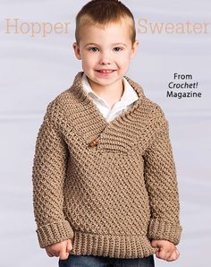 Hopper Sweater from the Winter 2015 issue of Crochet! Magazine. Order a digital copy here: https://www.anniescatalog.com/detail.html?code=AM22161