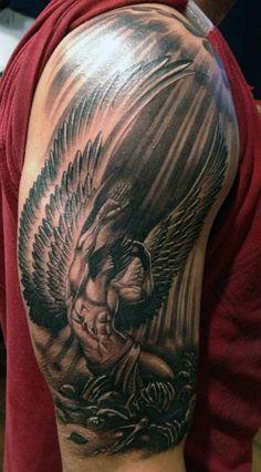 Small Guardian Angel Tattoos
