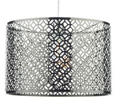 The Ceylon non electric easy fit lampshade has an antique chrome finish with cut-out decorative detail. Matching table lamp available from Luxury Lighting Dar Lighting, Luxury Lighting, Lighting Store, Exterior Lighting, Lampshades, Chrome Finish, Interior And Exterior, Electric, Chandelier
