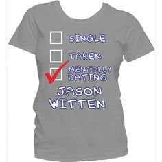 Jason Witten never take a play off. Grab this tee to show your love for Jason Witten. - preshrunk cotton - double-needle stitching throughout - seamless collar - taped shoulder-to-s Dallas Cowboys Funny, Dallas Cowboys Football, Spurs Game, Cowboy Love, Dez Bryant, Jason Witten, How Bout Them Cowboys, Love My Boys, Dating
